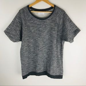 Everlane Size L Gray Short Sleeve Sweatshirt